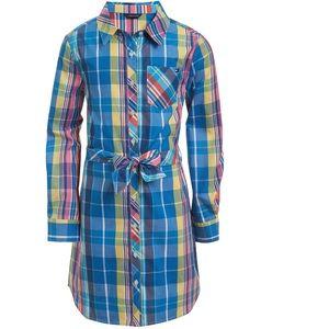 Tommy Hilfiger Toddler Girls Plaid Shirtdress